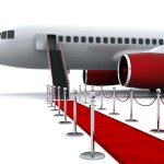 Airplane and red carpet